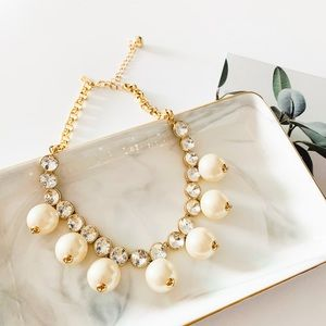Kate Spade Pearl Crystal Statement Necklace